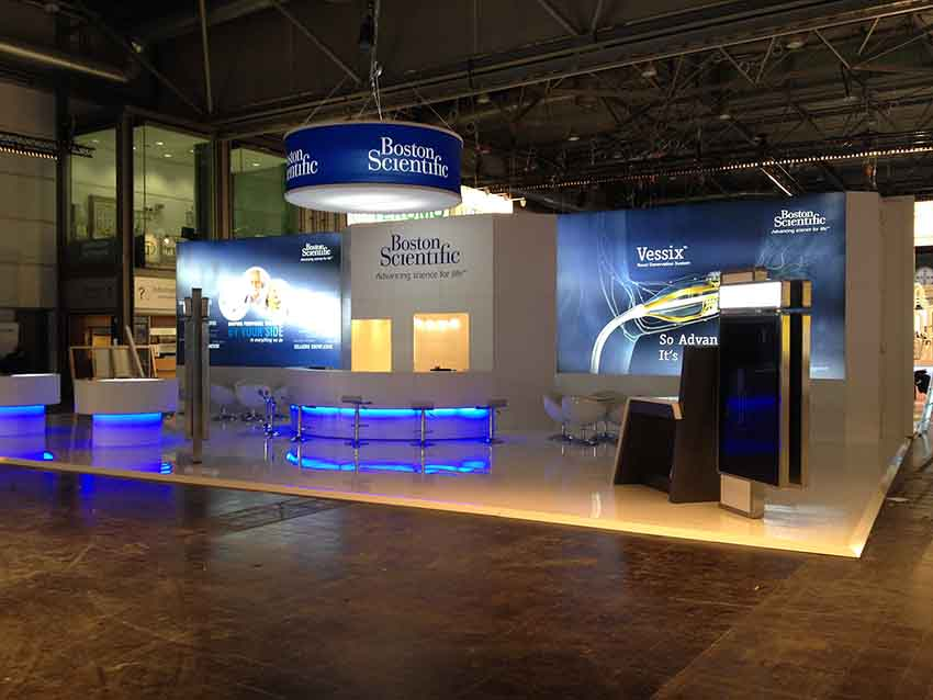 boston scientific stand display