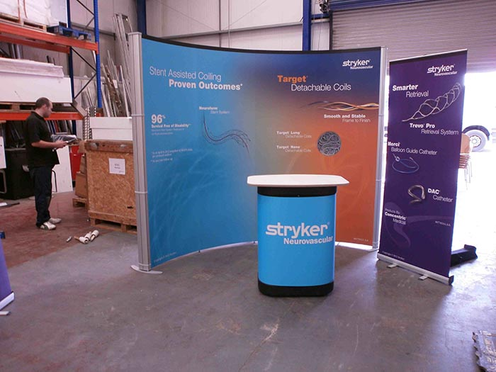 Portable exhibition stands