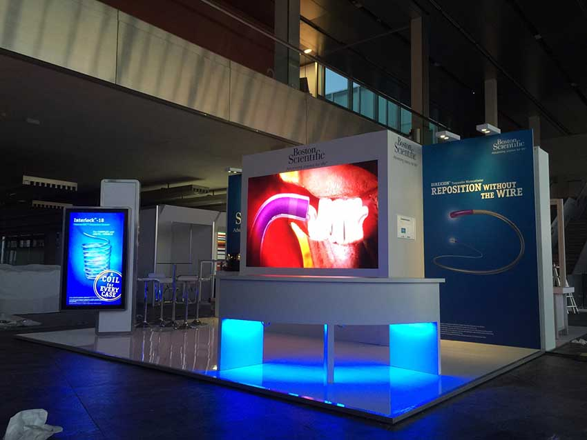 boston scientific exhibition stand