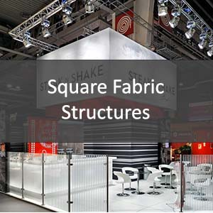 square fabric structure